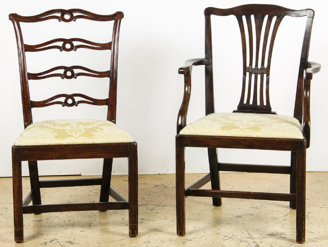 2 Antique Philadelphia/English Chairs & Shaker Quilt - 6