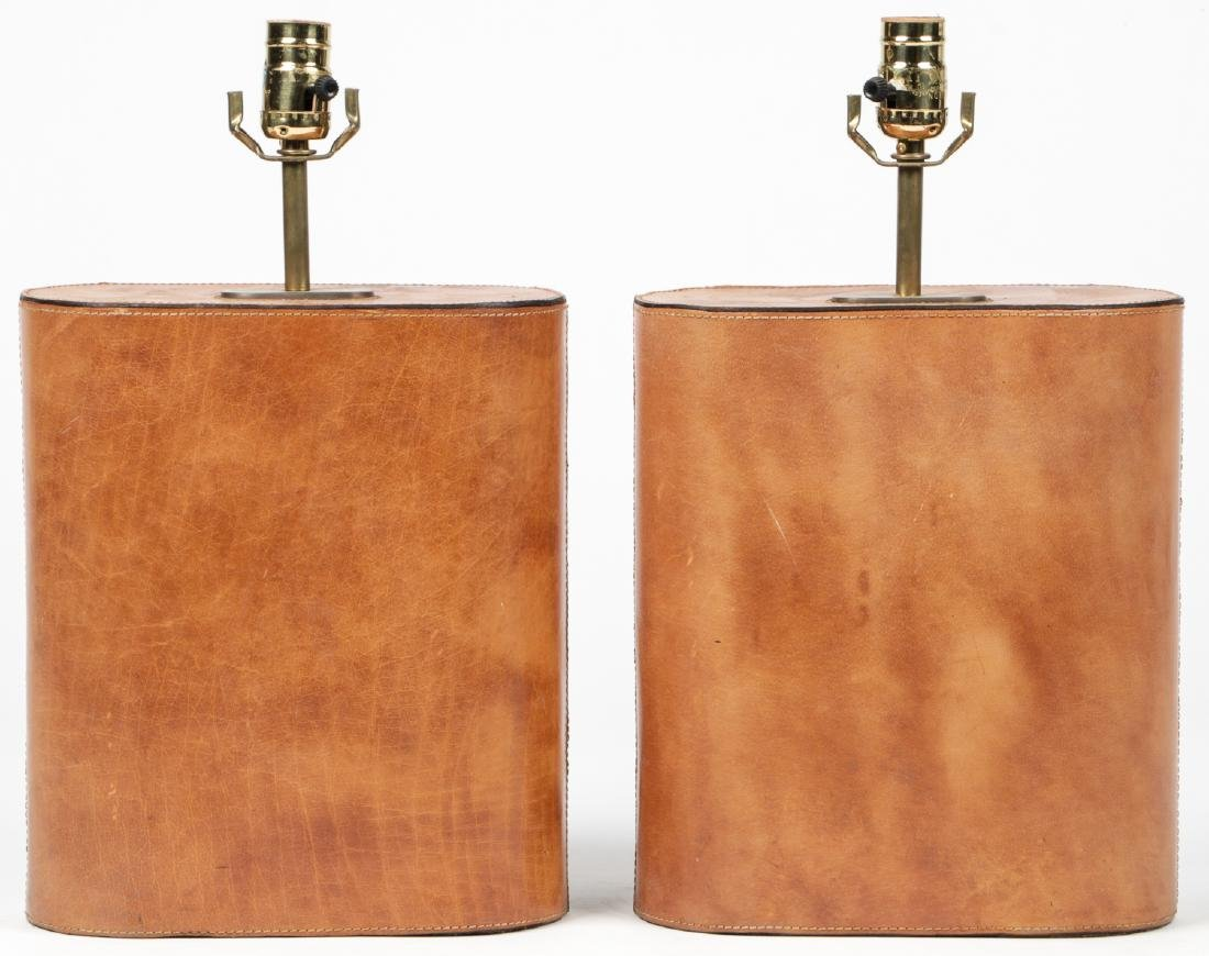 Modern Leather Clad Lamps