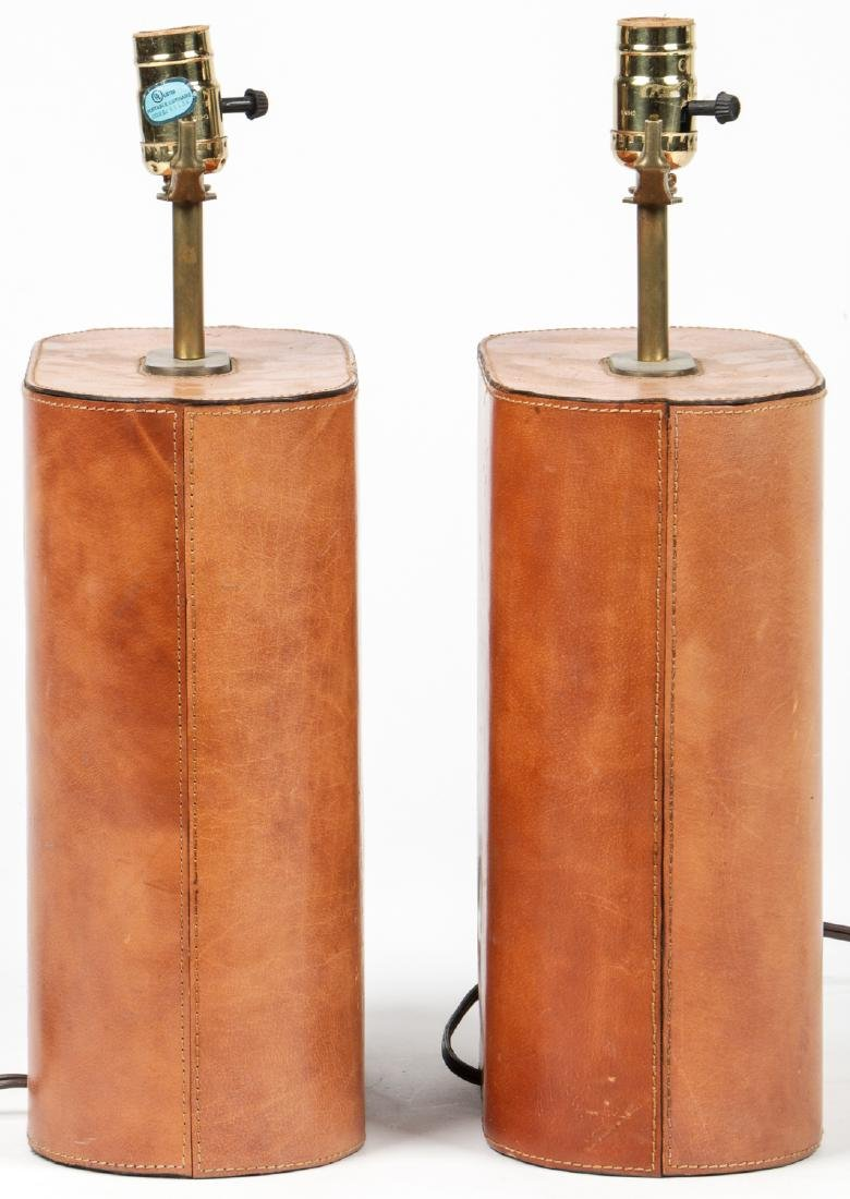 Modern Leather Clad Lamps - 2