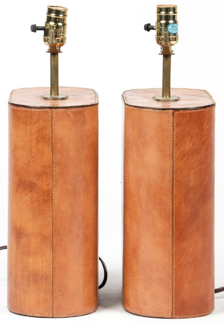 Modern Leather Clad Lamps - 4