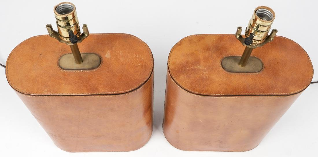 Modern Leather Clad Lamps - 5