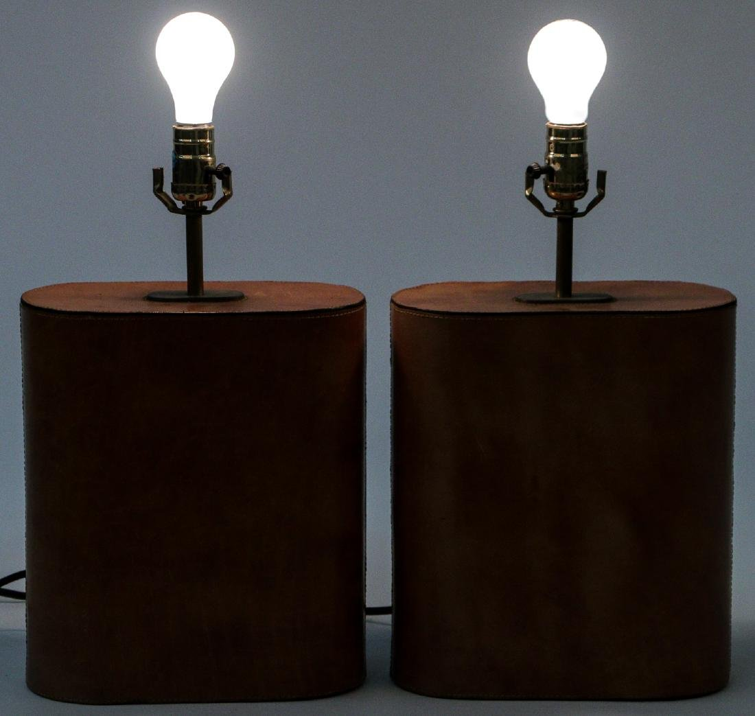 Modern Leather Clad Lamps - 7