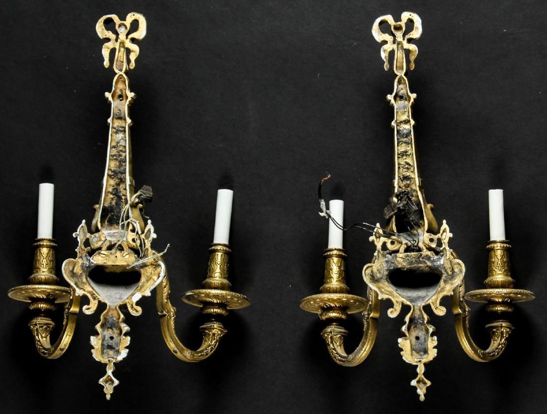 Pair of Regency Style Gilt Bronze Sconces - 3
