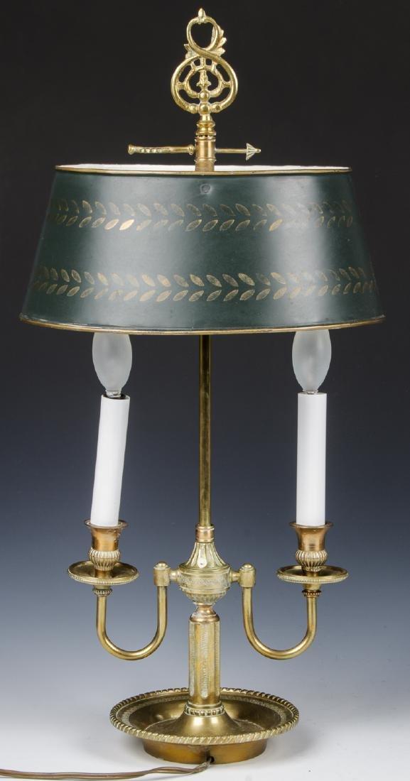 Brass Candelabra Lamp and Brass Statue - 2