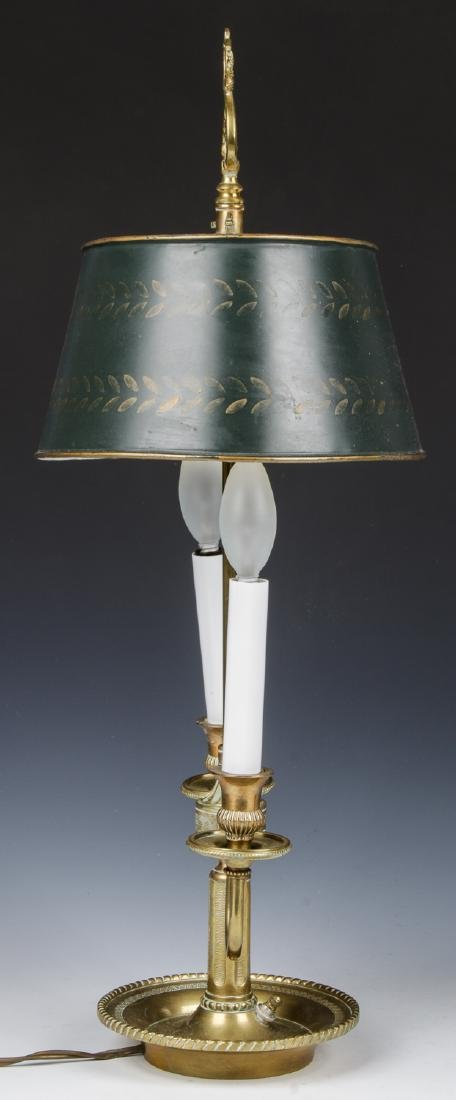 Brass Candelabra Lamp and Brass Statue - 3