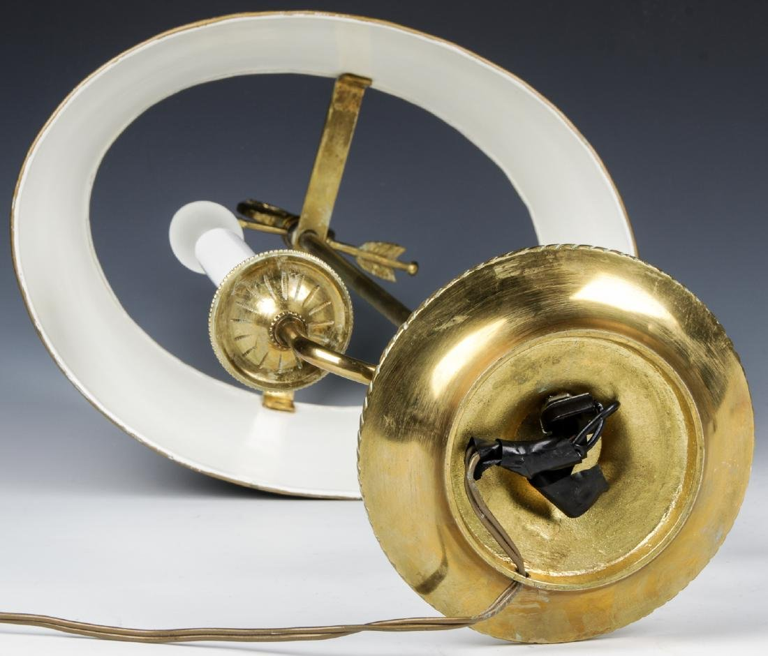 Brass Candelabra Lamp and Brass Statue - 4