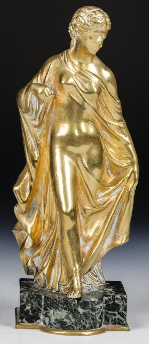 Brass Candelabra Lamp and Brass Statue - 5