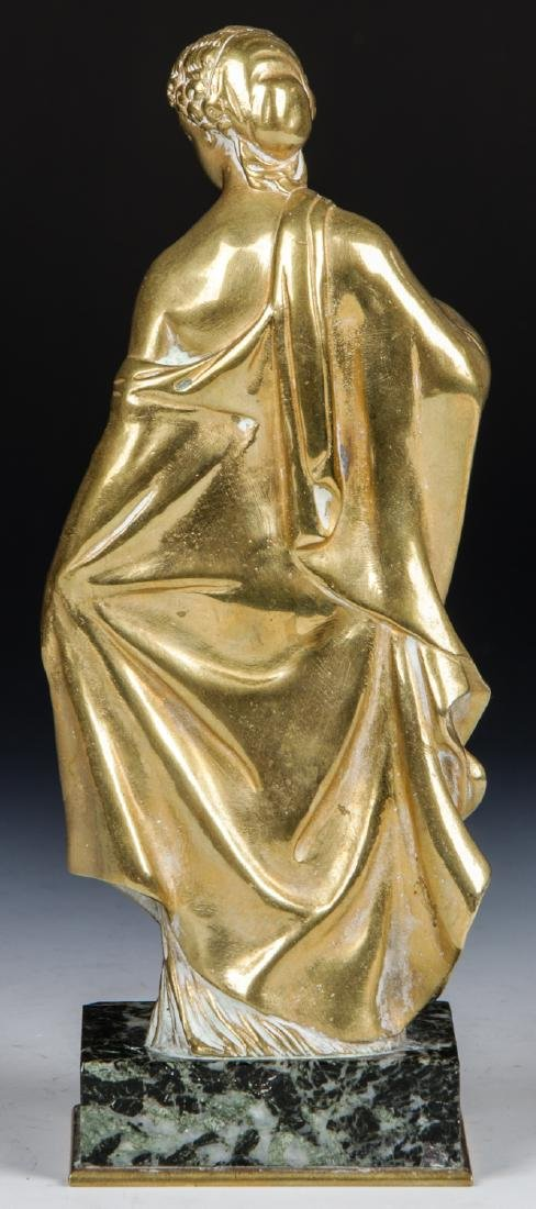 Brass Candelabra Lamp and Brass Statue - 6