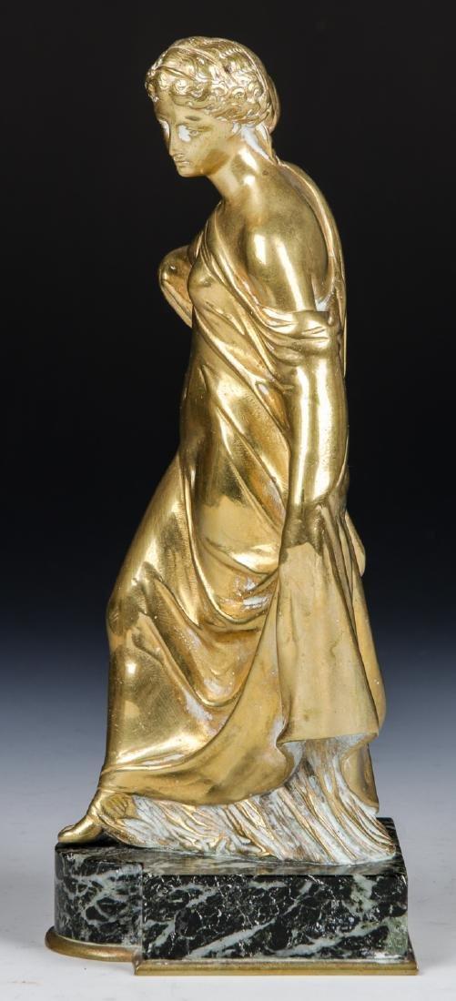 Brass Candelabra Lamp and Brass Statue - 7