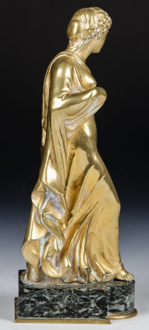 Brass Candelabra Lamp and Brass Statue - 8