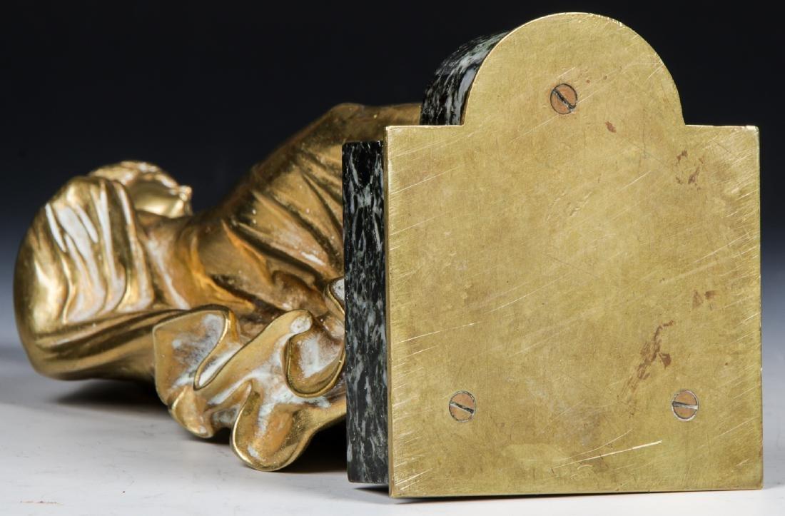 Brass Candelabra Lamp and Brass Statue - 9