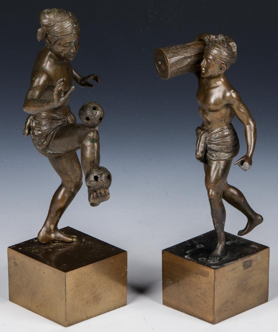 2 Bronze Figural Statues
