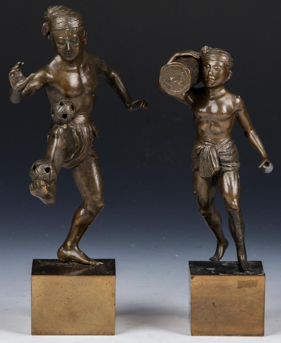 2 Bronze Figural Statues - 2