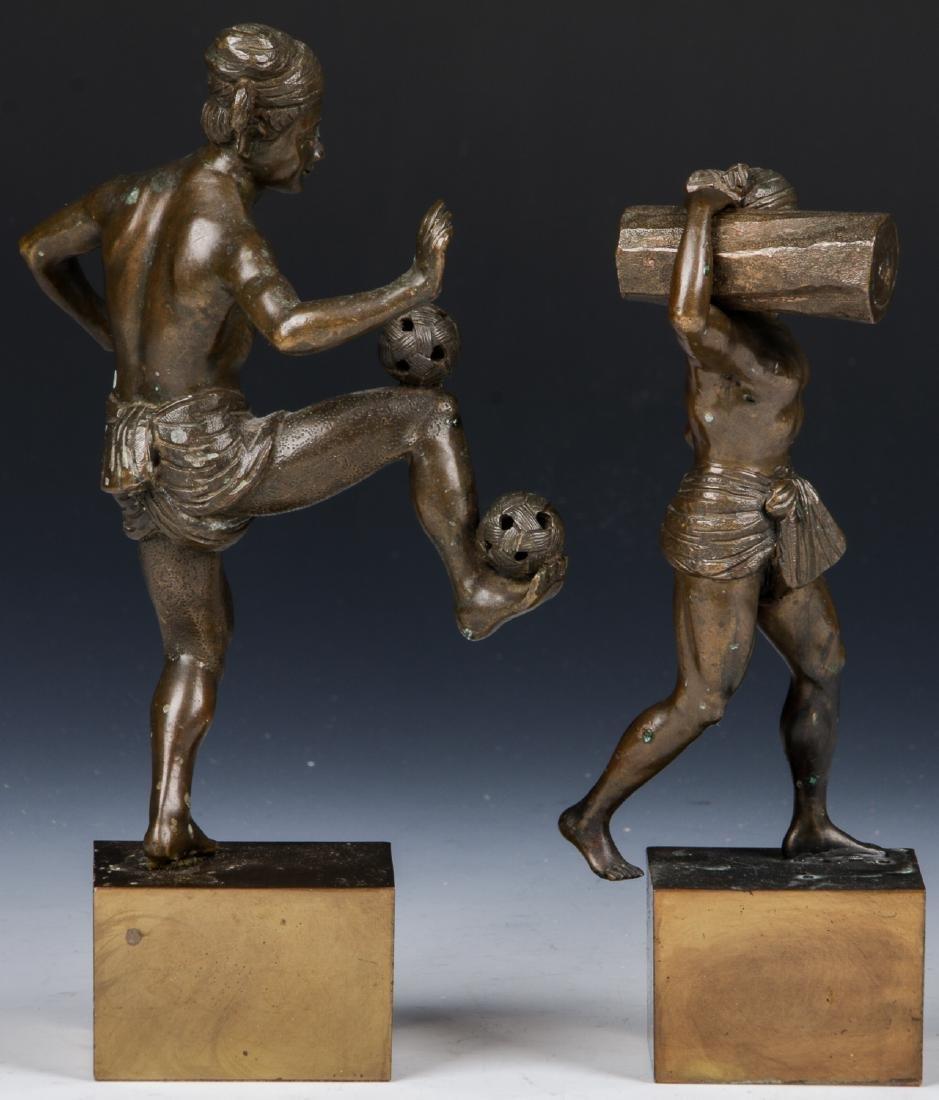 2 Bronze Figural Statues - 3