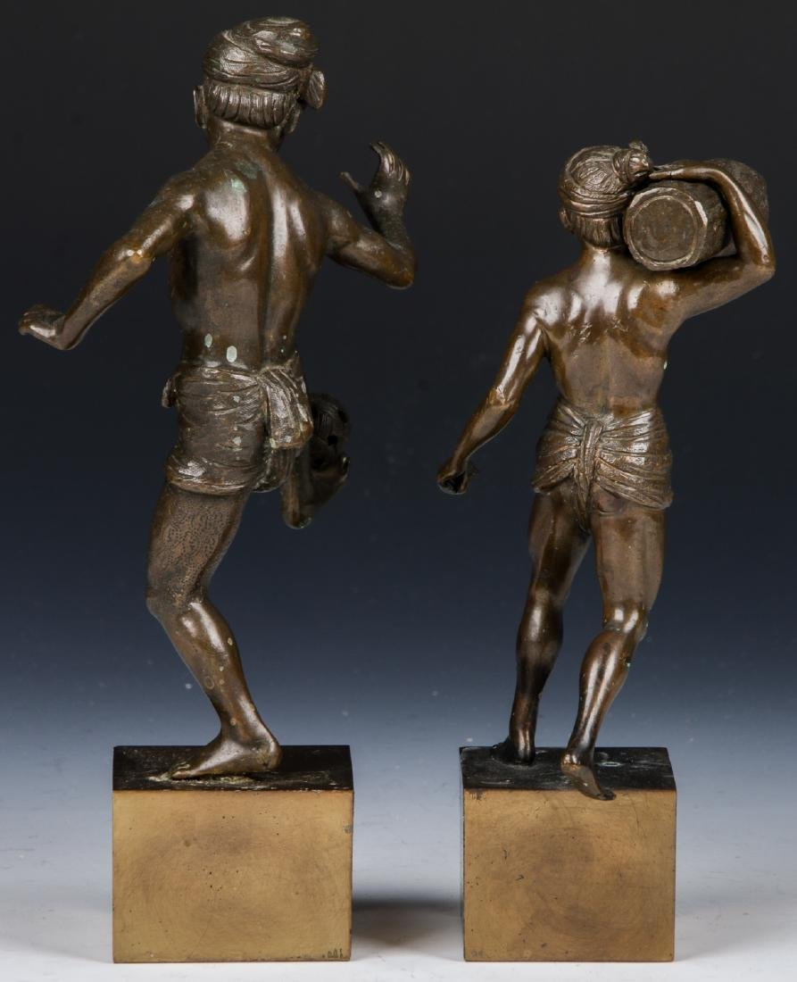 2 Bronze Figural Statues - 4