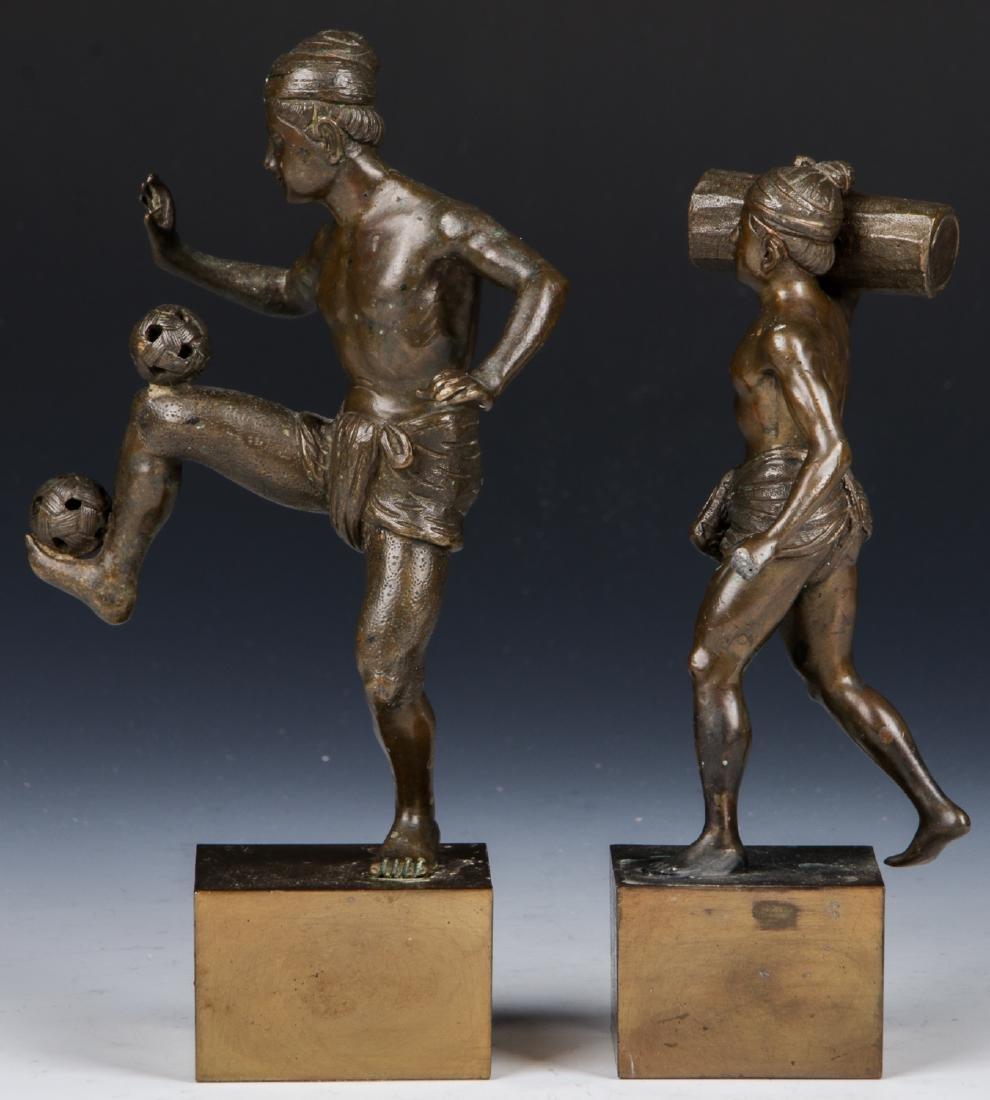 2 Bronze Figural Statues - 5