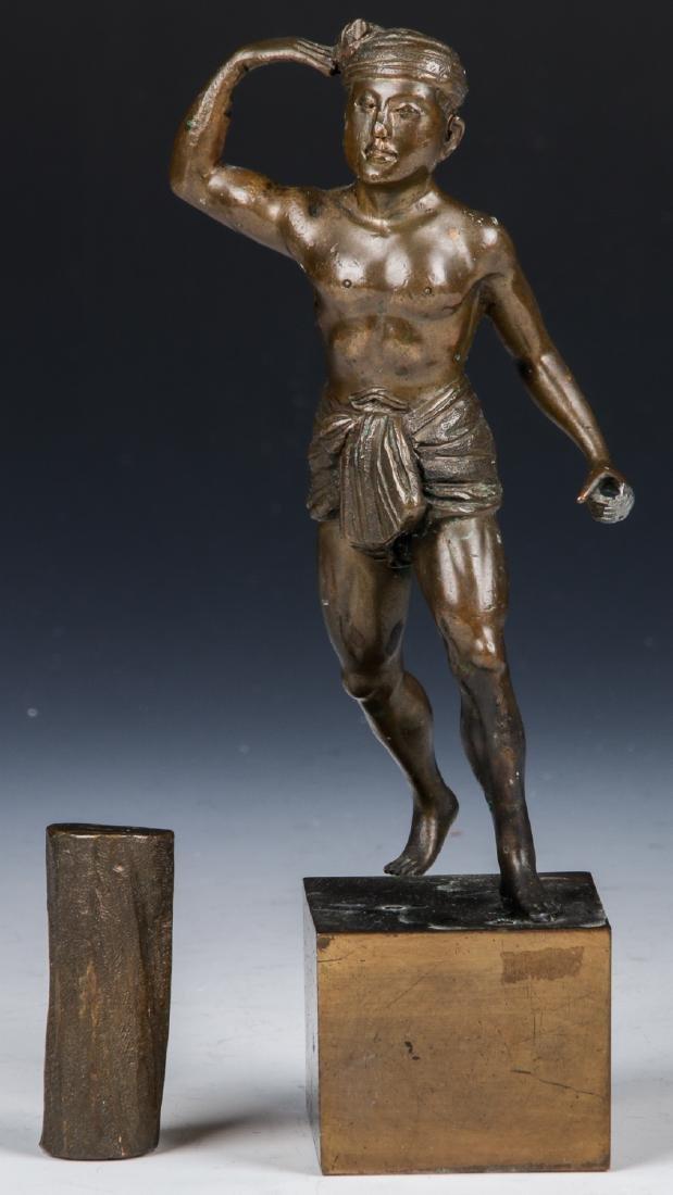 2 Bronze Figural Statues - 6