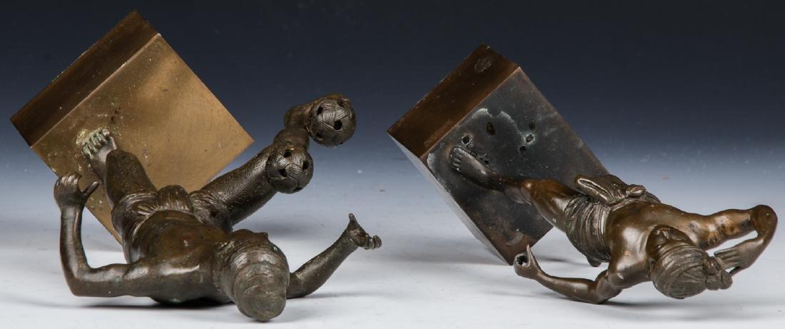 2 Bronze Figural Statues - 7