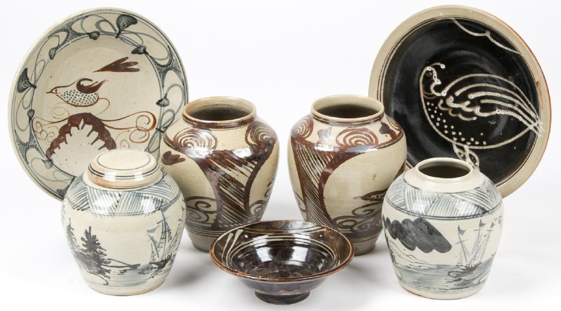 Assembled Collection of (7) Slipware Ceramics