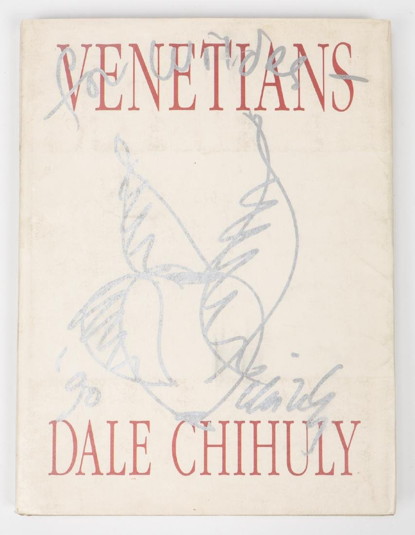 "Signed Art Book ""Venetians"", By Dale Chihuly"
