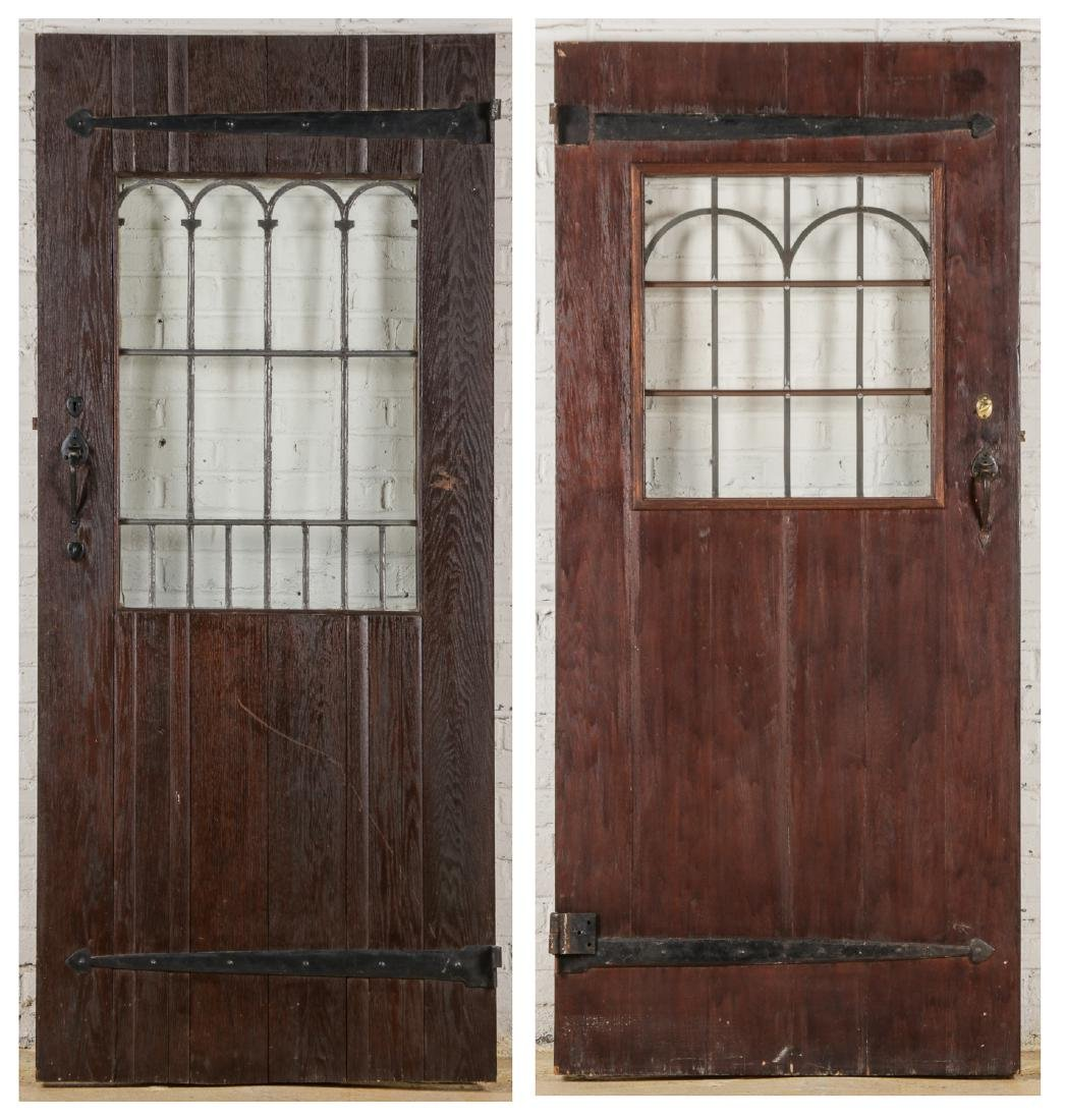 2 Craftsman Arts and Crafts Style Mission Doors