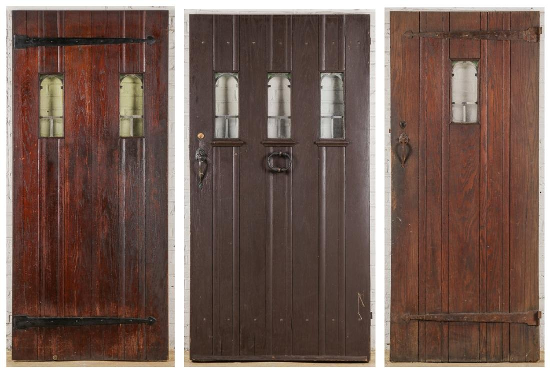 3 Craftsman Arts and Crafts Style Mission Doors