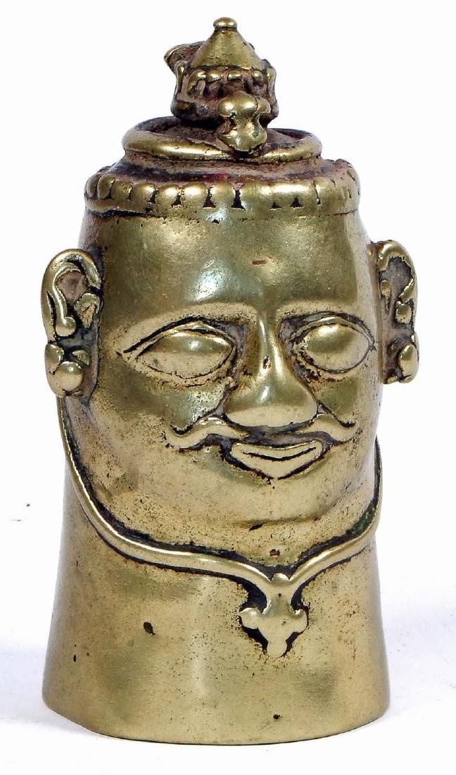 18th/19th C. Brass Altar Stone Cover, Karnataka, India