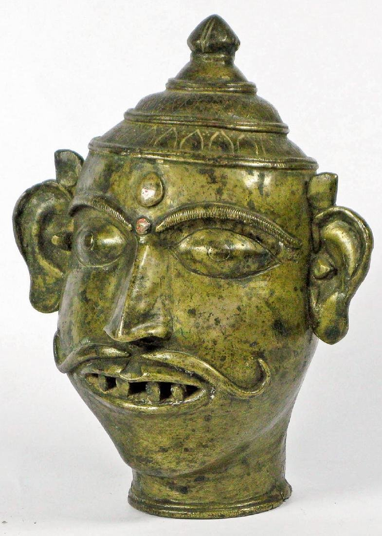 Brass Altar Head, Maharashtra, India, 18th/19th C.