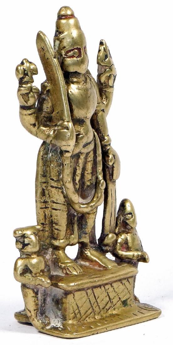 18th/19th C. Bronze Virabadhra, India - 4