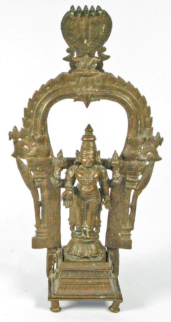 Bronze Vishnu, South India, 18/19th C