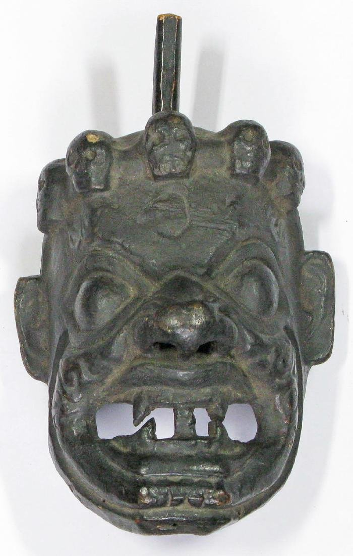 Wooden Mask of Dharmapala, Tibet, 19th C