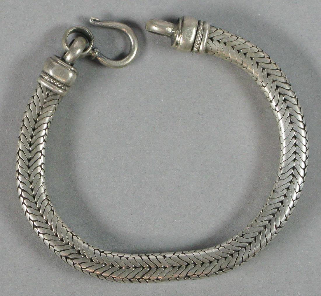 Silver Snake Bracelet, India