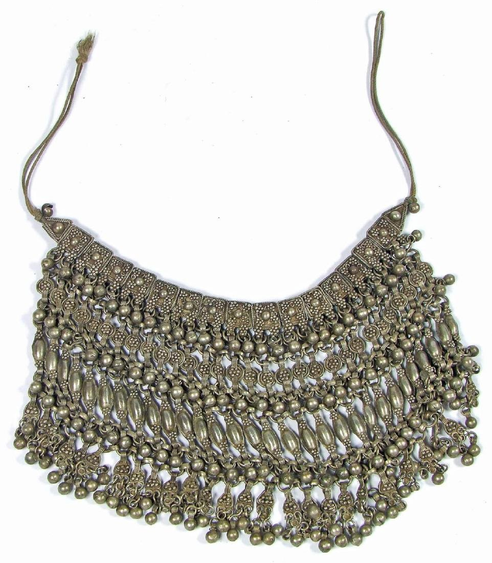 Antique Silver Bridal Necklace, Yemen