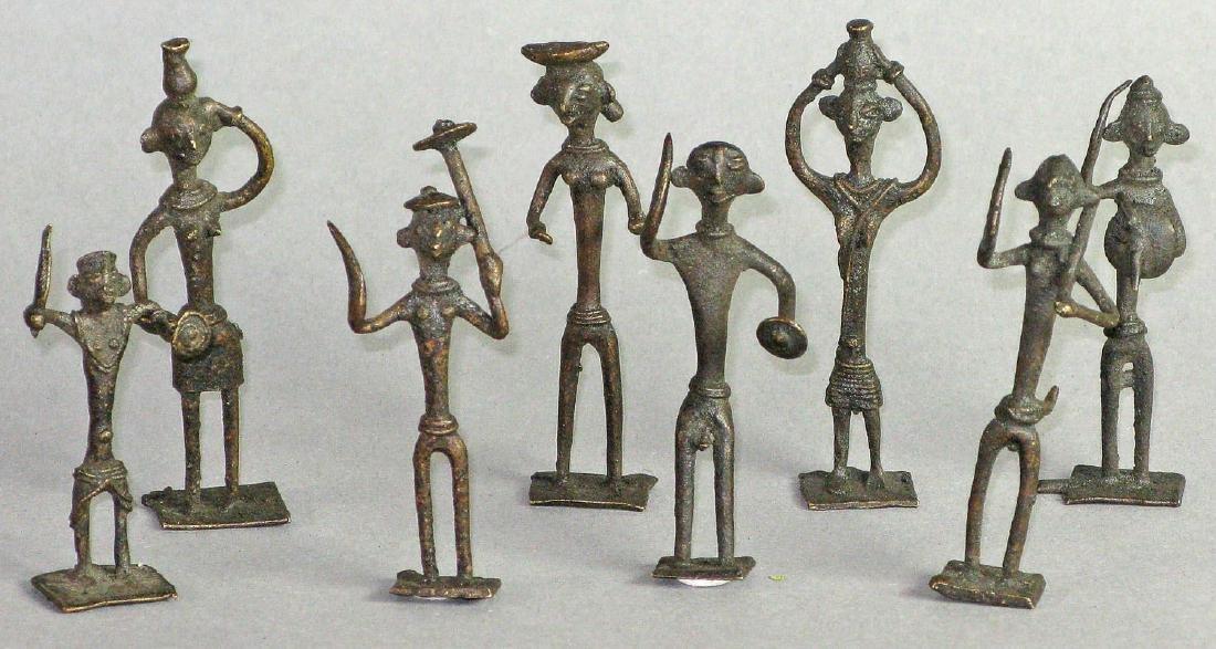 Eight small figures, Orissa, India