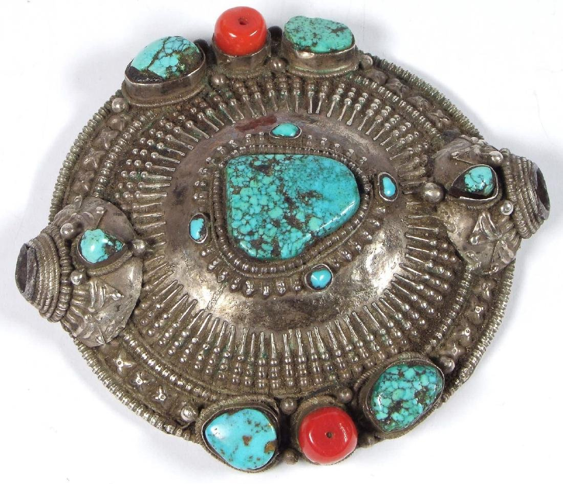 Tibetan Hair Ornament, 19th c.