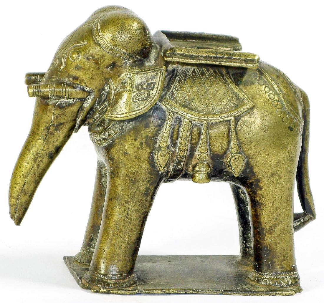 19th C. Brass Elephant, India