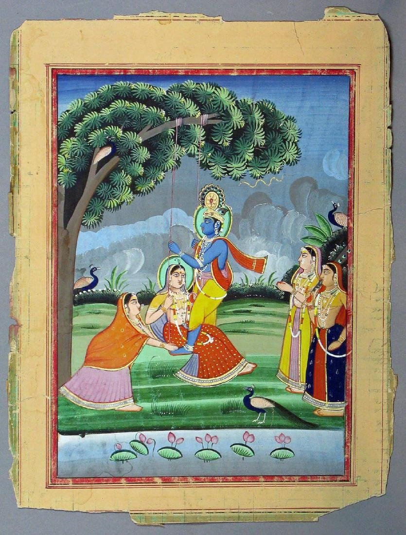 Miniature painting, India, 19th c.