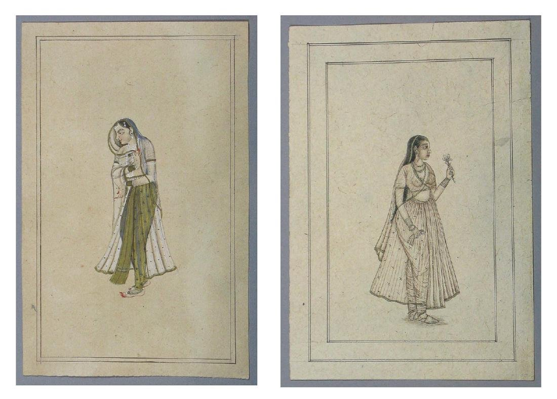 Two Drawings of a Woman, India, Late 19th c.
