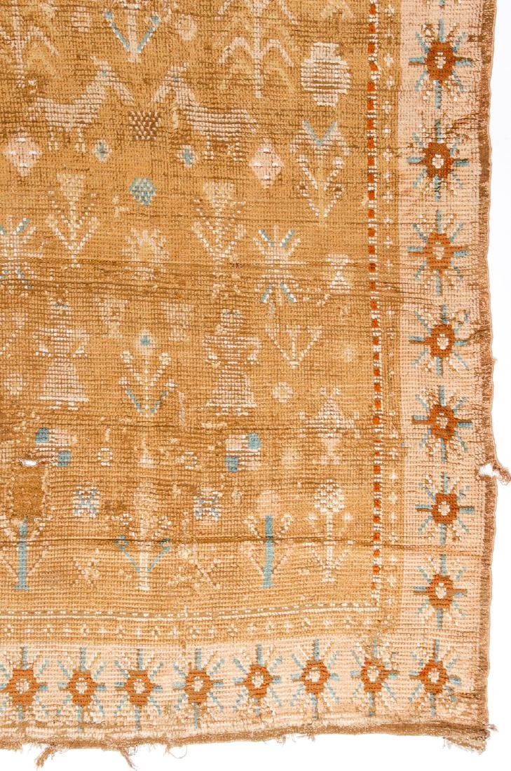 "Early 19th C. Scandinavian Rug, Dated ""1823"" - 2"