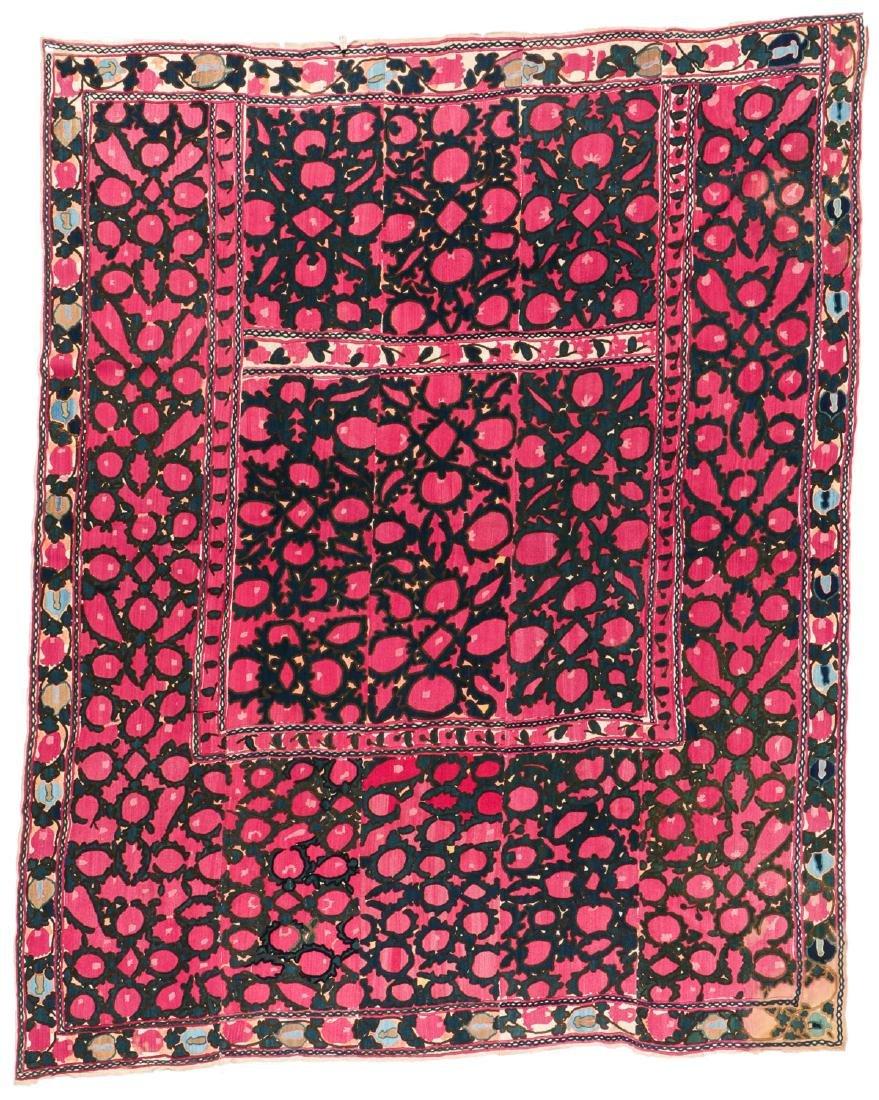 Antique Central Asian Suzani: 94'' x 76''