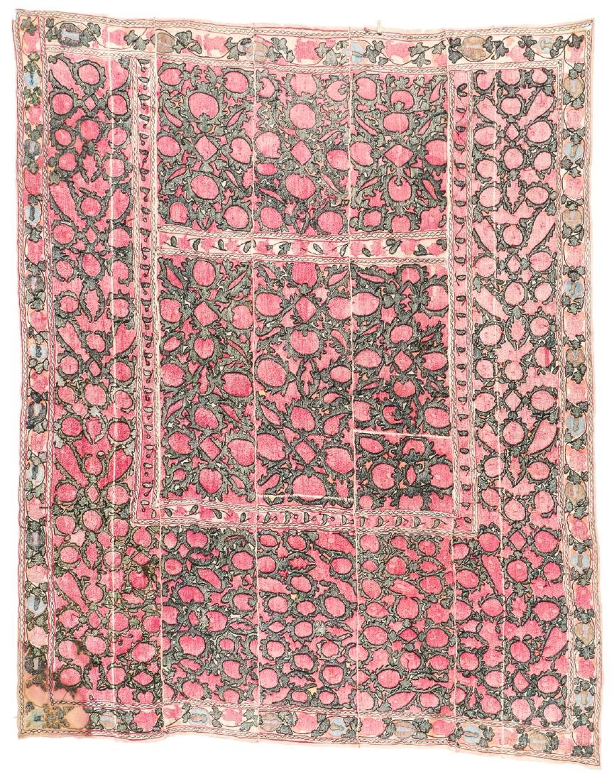 Antique Central Asian Suzani: 94'' x 76'' - 4