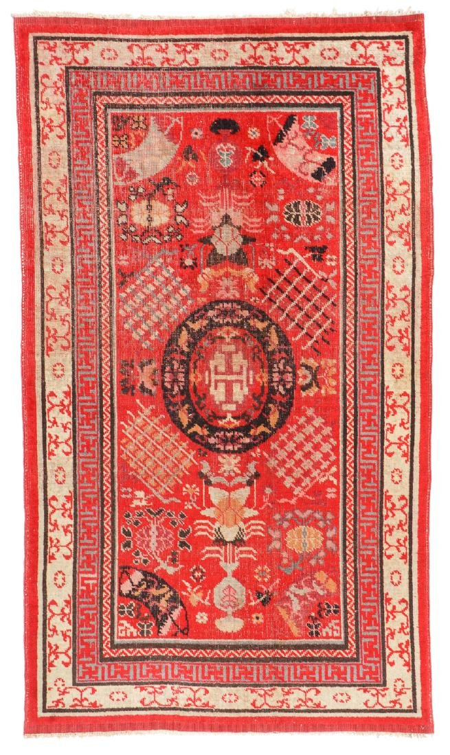 Antique Khotan Rug, Central Asia: 3'9'' x 6'6''