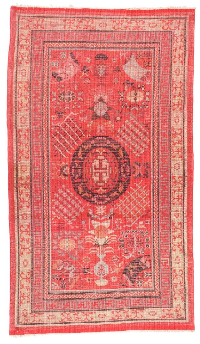Antique Khotan Rug, Central Asia: 3'9'' x 6'6'' - 6