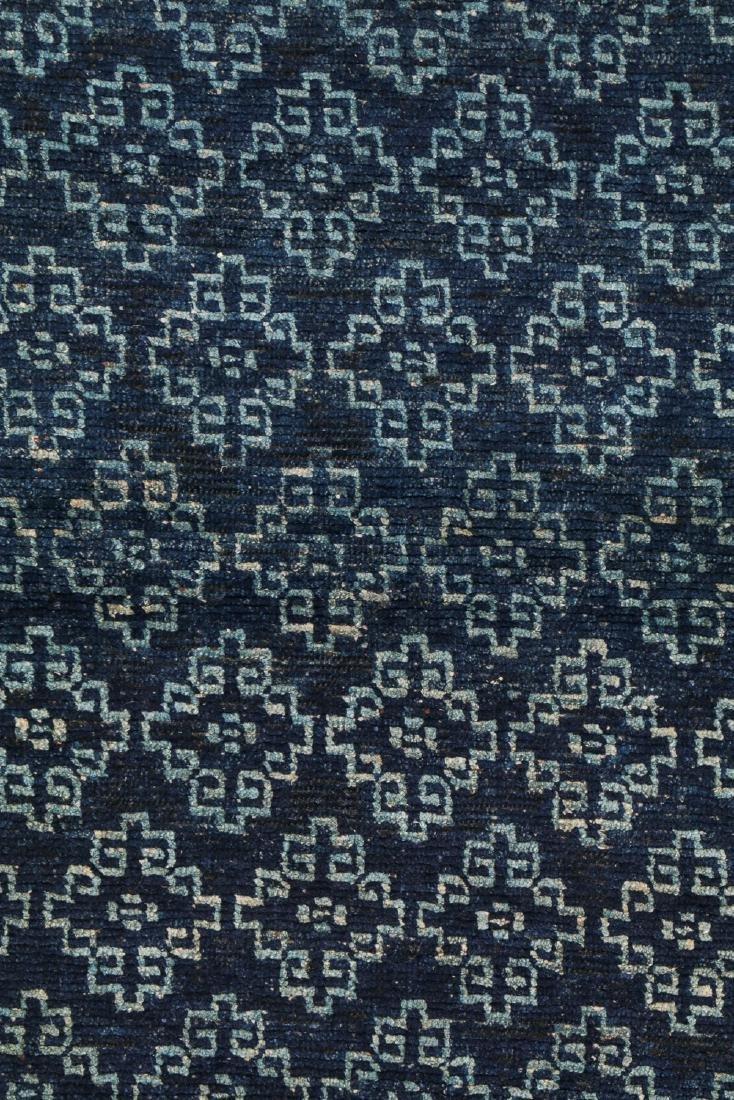 Antique Tibetan Blue Long Khaden Rug: 2'7'' x 5'7'' (79 - 2