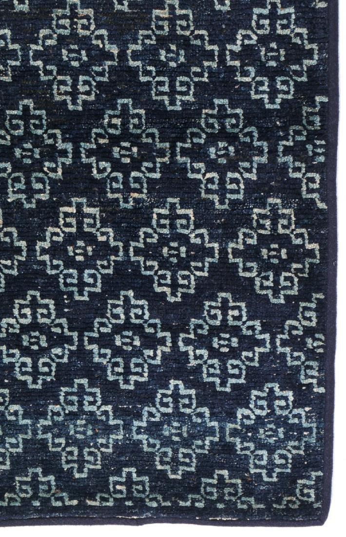 Antique Tibetan Blue Long Khaden Rug: 2'7'' x 5'7'' (79 - 3