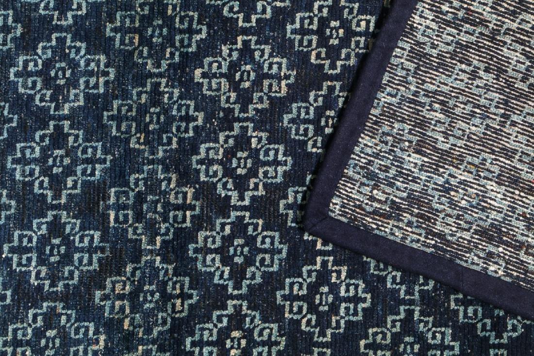 Antique Tibetan Blue Long Khaden Rug: 2'7'' x 5'7'' (79 - 4