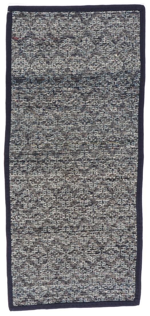 Antique Tibetan Blue Long Khaden Rug: 2'7'' x 5'7'' (79 - 7