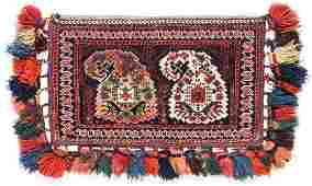 Antique Persian Afshar Boteh Bag 12 x 20