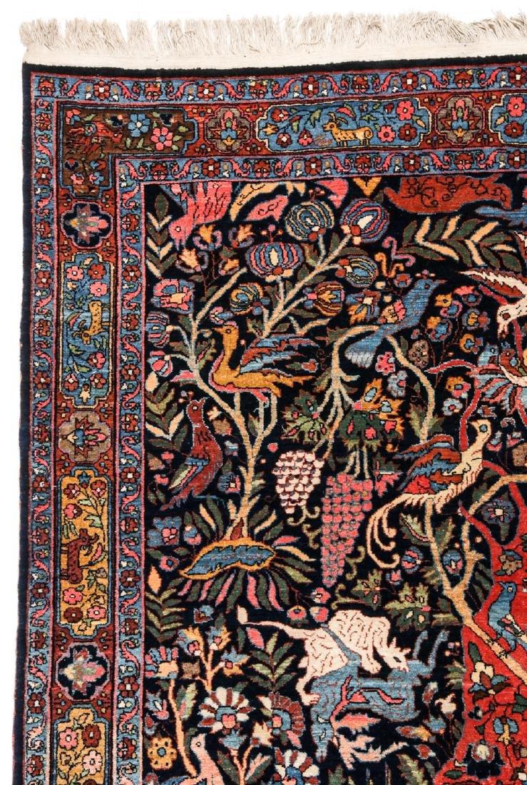 Fine/Rare Antique Bidjar Pictorial Rug: 4'5'' x 6'11'' - 2