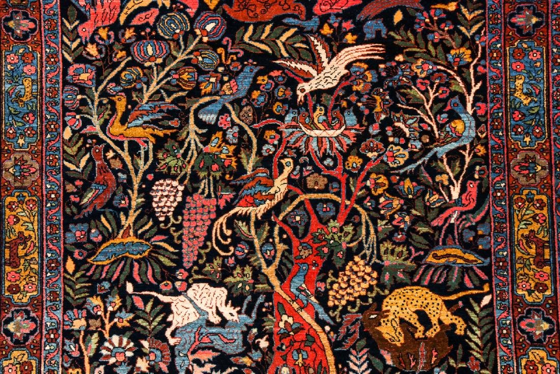 Fine/Rare Antique Bidjar Pictorial Rug: 4'5'' x 6'11'' - 3